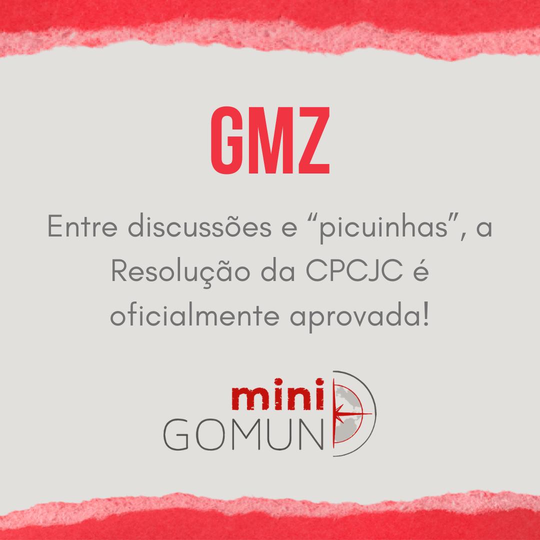 """[GMZ] Entre discussões e """"picuinhas"""", a Resolução da CPCJC é oficialmente aprovada!"""