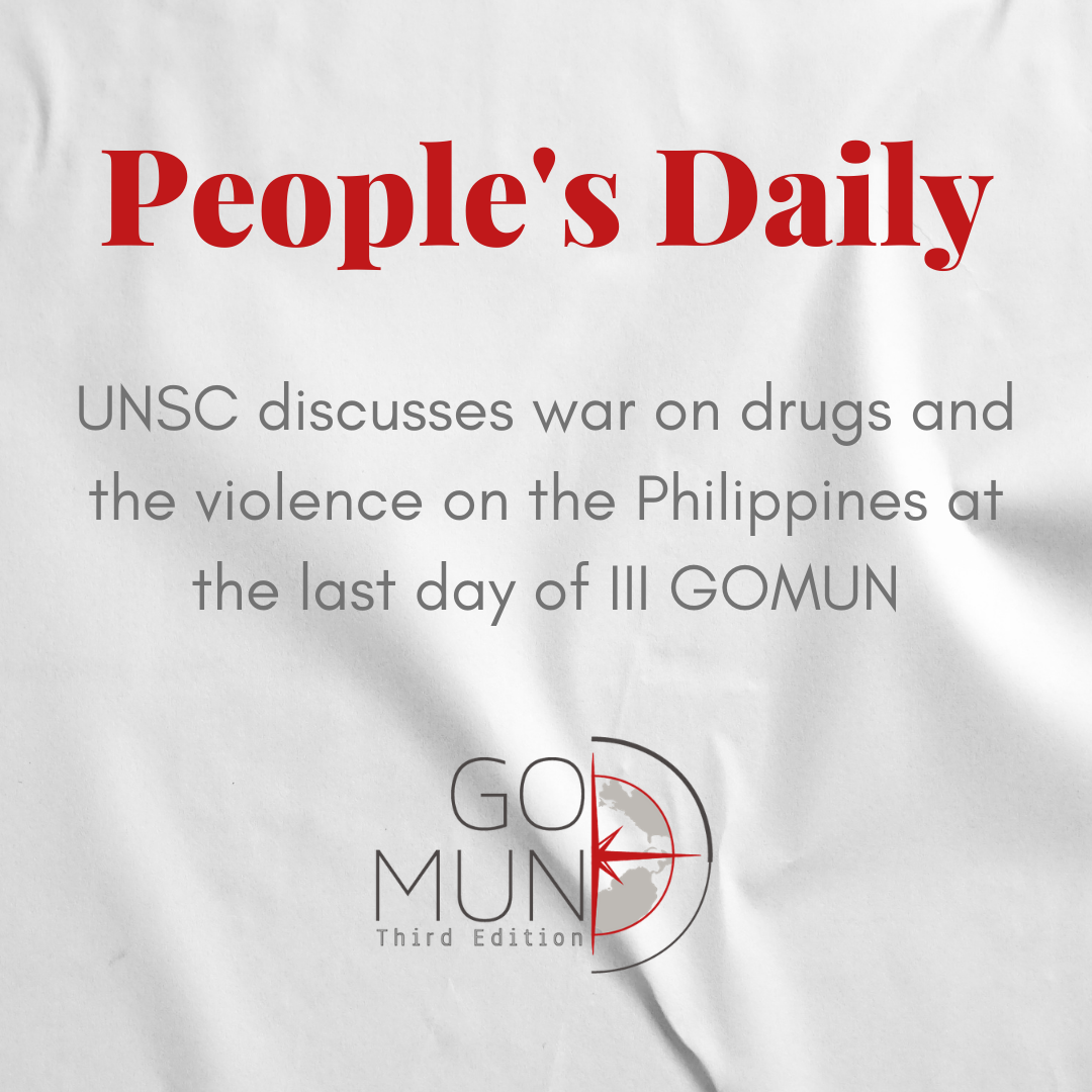[PD] UNSC discusses war on drugs and the violence on the Philippines at the last day of III GOMUN
