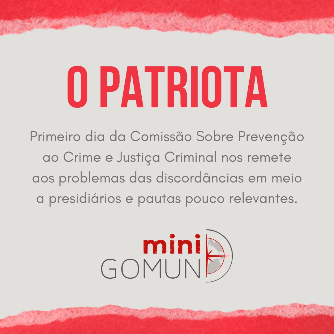 [O Patriota] Primeiro dia da Comissão Sobre Prevenção ao Crime e Justiça Criminal nos remete aos problemas das discordâncias em meio a presidiários e pautas pouco relevantes.