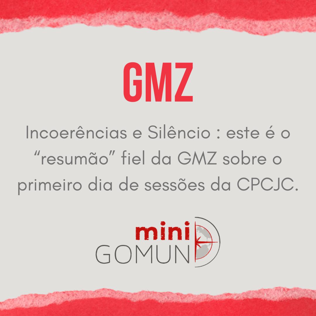"""[GMZ] Incoerências e Silêncio: este é o """"resumão"""" fiel da GMZ sobre o primeiro dia de sessões da CPCJC."""